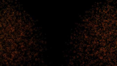 多くの輝くリングスターのパーティクル(カーテン) CG動画