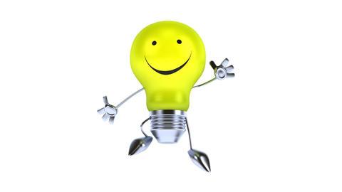 Green light bulb Animation