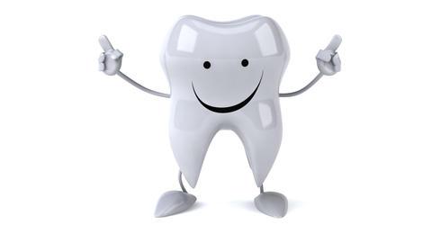 Fun tooth dancing Animation