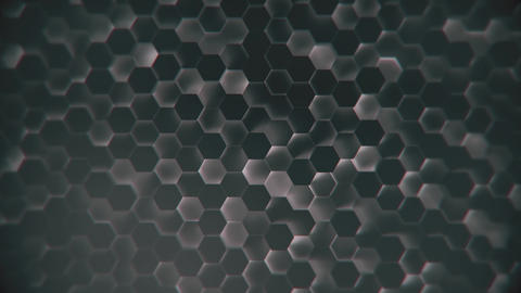 Abstract scifi technology hexagon model background technical background made of Live Action
