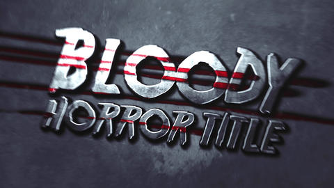 BLOODY HORROR TITLE INTRO After Effects Template