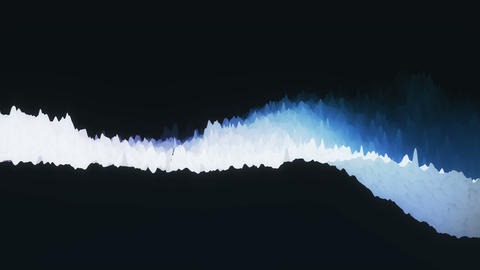 Abstract 3d evolving gradient mountain motion graphic background. Modern 4k seamless looping footage Animation