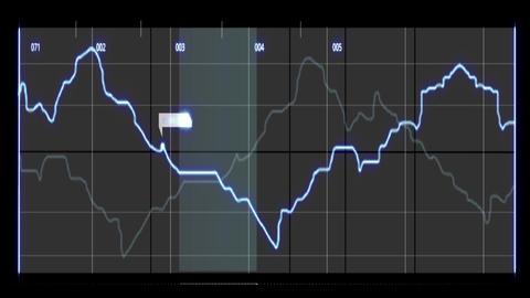 Radar stock market graph interface PC digital animation Videos animados