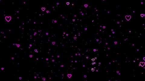 Particle of a lot of shining ring hearts(rotation) Animation