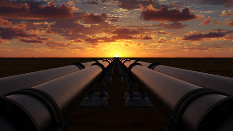 Transportation of oil and natural gas through metal pipes in six streams Animation
