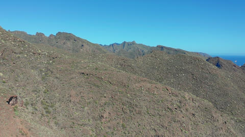 Aerial view. Beautiful landscape of green mountain range. Panoramic view of Live Action