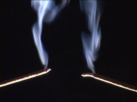 Incense burns and the ashes fall off Stock Video Footage