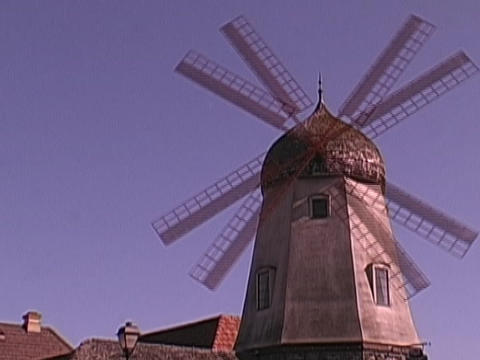 The blades spin on a windmill Stock Video Footage