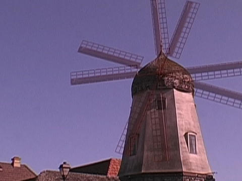 The blades spin on a windmill Footage