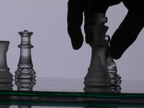 A chess player wins the match Footage