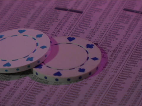 Chips fall on a Wall Street report Stock Video Footage