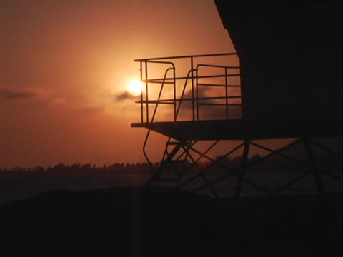 A time-lapse view shows the sun as it moves quickly... Stock Video Footage