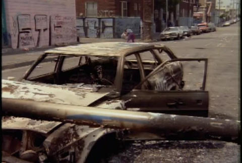 Massive destruction during the LA riots in 1992 Footage