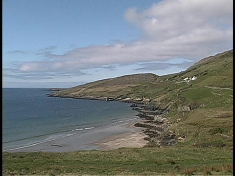 A lovely view of an Irish coastline Stock Video Footage