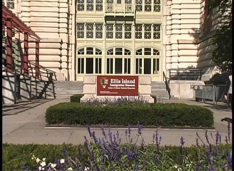 Tourists visit the Ellis Island Immigration Museum, in New York Footage