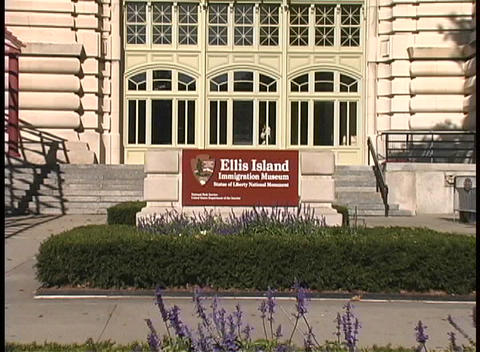 Tourists visit the Ellis Island Immigration Museum, in... Stock Video Footage
