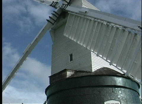 A close view of the sails on the Wrawby Postmill Stock Video Footage