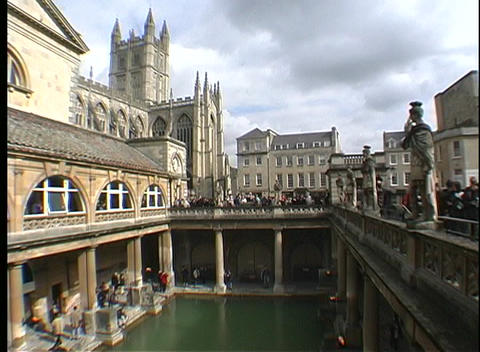 Beverley Minster can be glimpsed above the harbor Stock Video Footage