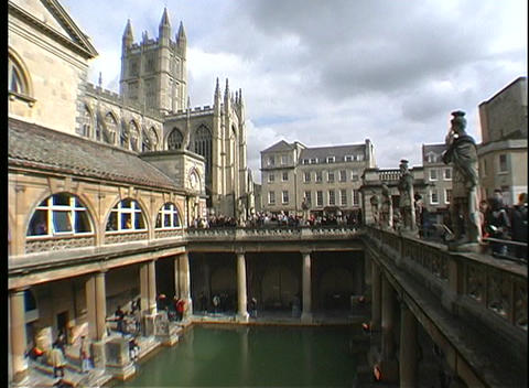 Beverley Minster can be glimpsed above the harbor Footage
