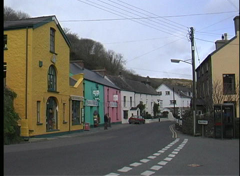 Everything is perfectly still in this small village in Wales Stock Video Footage