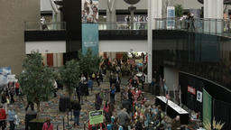 Conference center Genealogy conference entrance fast HD BM 1513 Footage