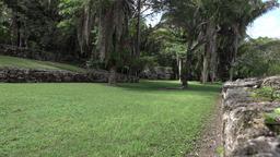 Costa Maya Mexico Kohunlich Mayan Ruins ball sport court 4K Footage