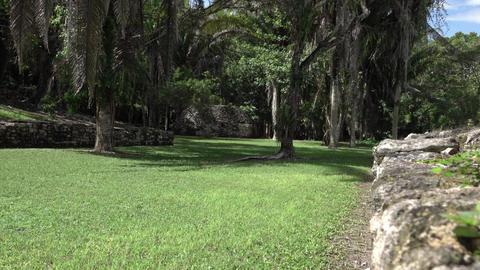Costa Maya Mexico Kohunlich Mayan Ruins sport court 4K Footage