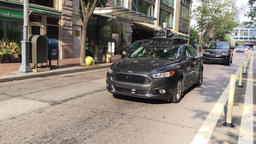 Uber Self-Driving Car Drives on Pittsburgh Roads Footage