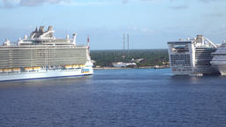 Cozumel Mexico cruise ships vacation 4K Footage