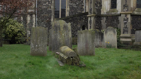 Dover England Parish church ancient cemetery 4K Footage