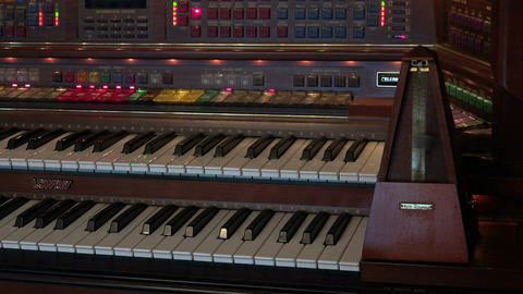 Electronic wood organ keys and metronome Footage