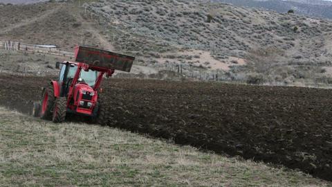 Farming farm plowing with heavy duty tractor HD 2471 Footage