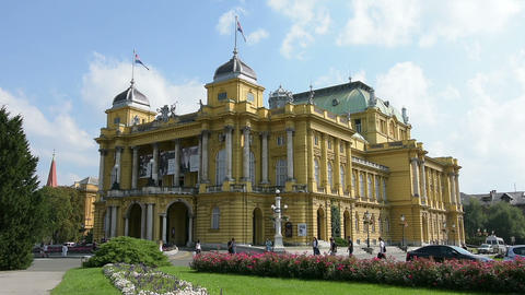 Croatian National Theatre in Zagreb Live Action