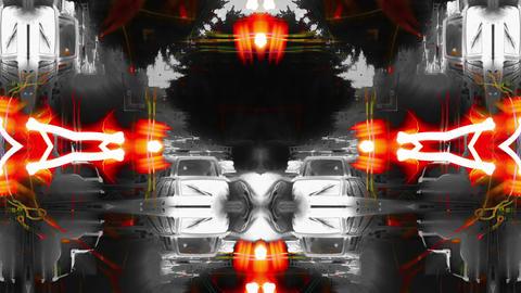 Acid kaleido and traffic jam Mix Footage