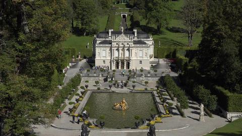 Germany Linderhof Palace tourists Bavaria 4K 027 Footage