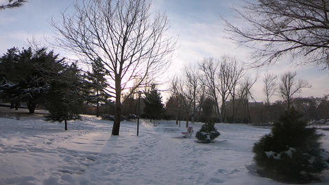 Park view in winter GIF