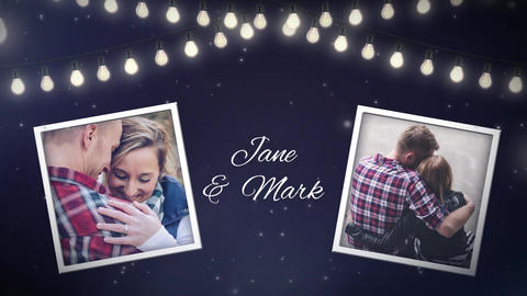 Night Bulbs Wedding Invitation After Effects Template