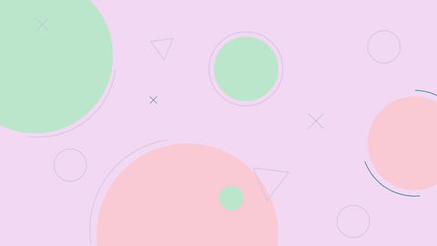 Simple looped pastel color background with geometric shapes Animation