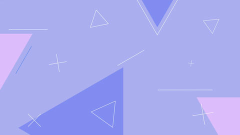 Simple looped light blue color background with geometric shapes Animation