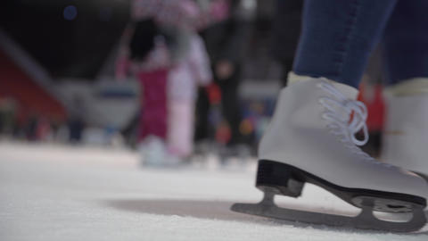 skating on a public glider with a large number of people Live Action