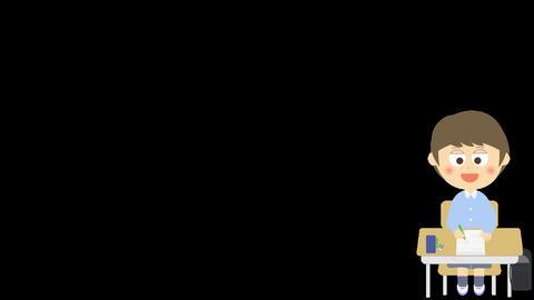 簡単な試験のアニメーション(小学生の男の子) CG動画