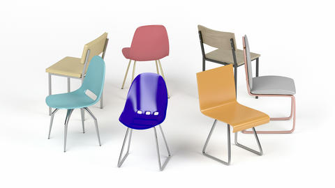 Different chairs Animation