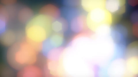 Abstract hexagon bokeh defocused looping background. Soft blurred light leak colorful lights Animation