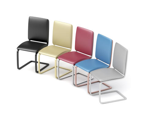 Colorful dining chairs Photo