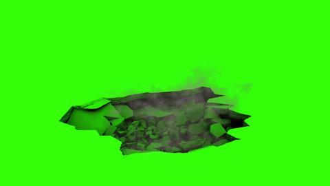 Ground Destruction V1 with Smoke Animation