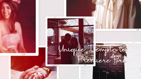 Multiframe Wedding Romantic Slideshow Premiere Pro Template
