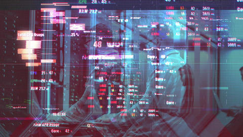 14 Glitch Transitions After Effects Template