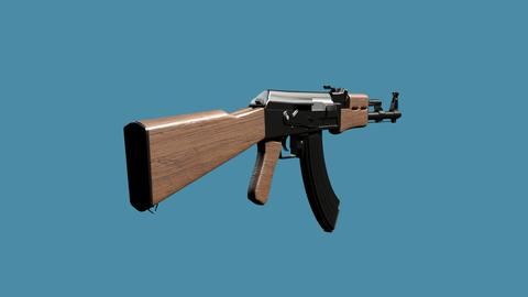 High Poly AK 47 Model 3D Model