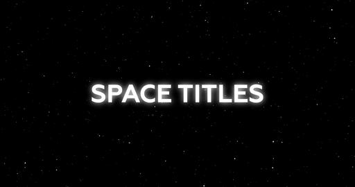 Space Titles After Effects Template