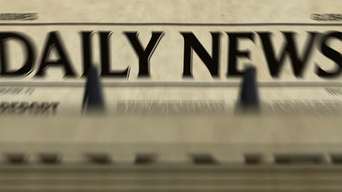 Daily news printing loopable – newspaper production Animation